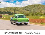 vinales  cuba   may 13  2017 ... | Shutterstock . vector #713907118