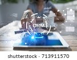 crm. customer relationship... | Shutterstock . vector #713911570