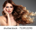 beauty woman face portrait....   Shutterstock . vector #713912290