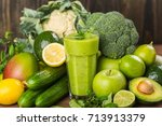 green. | Shutterstock . vector #713913379