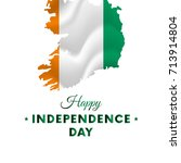 banner or poster of republic of ... | Shutterstock .eps vector #713914804