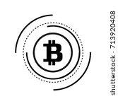 bitcoins. abstract technology...   Shutterstock .eps vector #713920408
