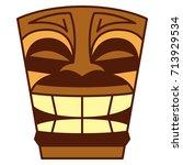 vector cartoon tiki idol... | Shutterstock .eps vector #713929534