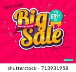 sale banner template design ... | Shutterstock .eps vector #713931958