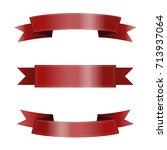 set of red ribbons | Shutterstock .eps vector #713937064