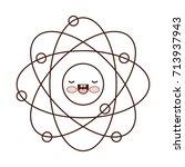 atom cartoon kawaii in...   Shutterstock .eps vector #713937943