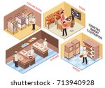bakery design concept with... | Shutterstock .eps vector #713940928
