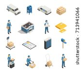 postal mail shipping service... | Shutterstock .eps vector #713941066