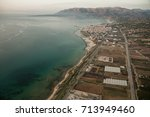 aerial view over sicily island | Shutterstock . vector #713949460