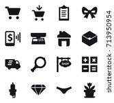 shopping icon set   Shutterstock .eps vector #713950954