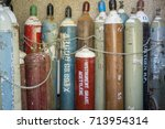 Small photo of Gas Pipes, Nitrogen, Oxygen , Acetylene , Argon , Hydrogen, For use in science labs.