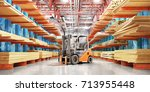 warehouse with variety of...   Shutterstock . vector #713955448