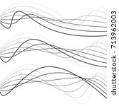 abstract curves  dotted lines ... | Shutterstock .eps vector #713962003