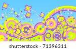 abstract summer background.... | Shutterstock . vector #71396311