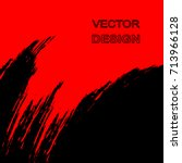 Vector Abstract Black And Red...