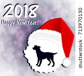 new year's card in the year of... | Shutterstock .eps vector #713970130