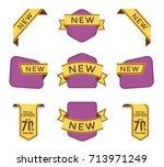 set of vector tag design  | Shutterstock .eps vector #713971249