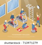 physiotherapy for elderly... | Shutterstock .eps vector #713971279