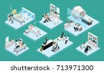 set of isolated isometric... | Shutterstock .eps vector #713971300