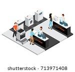 household appliances shop... | Shutterstock .eps vector #713971408