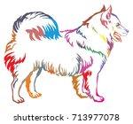 colorful decorative portrait of ...   Shutterstock .eps vector #713977078