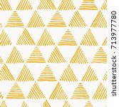 seamless hand drawn geometric... | Shutterstock .eps vector #713977780