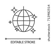 disco ball linear icon. thin...   Shutterstock .eps vector #713982514