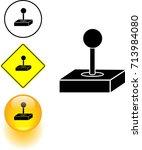 joystick controller symbol sign ... | Shutterstock .eps vector #713984080