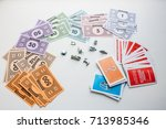 monopoly board game  playing... | Shutterstock . vector #713985346