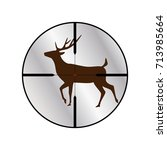deer on a rifle scope target ...   Shutterstock .eps vector #713985664