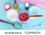 natural cosmetic products and a ... | Shutterstock . vector #713994019
