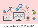 stock market trade concept.... | Shutterstock .eps vector #713994586