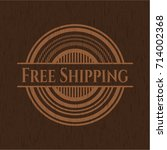 Free Shipping Badge With Wood...