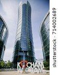 warsaw spire  business center... | Shutterstock . vector #714002689