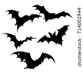 set bats. collection of bats.... | Shutterstock .eps vector #714002944