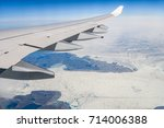 aerial views of greenland from... | Shutterstock . vector #714006388