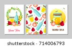 set of shana tova  rosh... | Shutterstock .eps vector #714006793