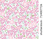 cute soft floral seamless... | Shutterstock .eps vector #714007726