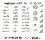 vector collection of vintage... | Shutterstock .eps vector #714010360