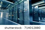 network server room with... | Shutterstock . vector #714012880