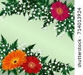 illustration of greeting or... | Shutterstock .eps vector #714013924