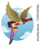 alcohol addiction concept with...   Shutterstock .eps vector #714016966
