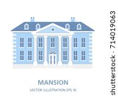 villa in a classic style.... | Shutterstock .eps vector #714019063