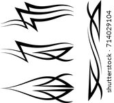 tribal car decal   vinyl ready  ...   Shutterstock .eps vector #714029104