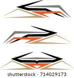 vehicle graphics  stripe  ...   Shutterstock .eps vector #714029173