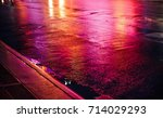 lights and shadows of new york... | Shutterstock . vector #714029293