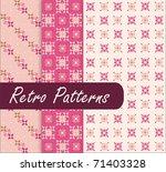 Pink Blossom Retro Patterns