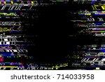 glitch frame. display error... | Shutterstock .eps vector #714033958