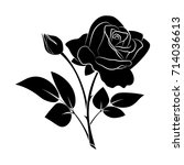 branch of buds of roses with...   Shutterstock .eps vector #714036613