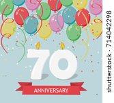 seventy years anniversary... | Shutterstock .eps vector #714042298